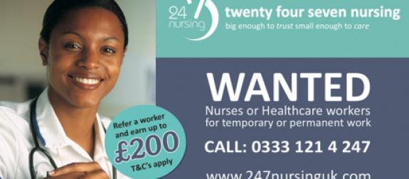 24 7 Nursing Recruitment event –  night  –  Leeds 10th May 3pm – 9pm
