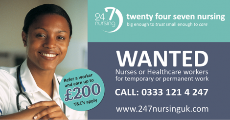July dates – Recruiting Rotherham, Doncaster, Ilkley, Leeds, York: – nurses, healthcare workers