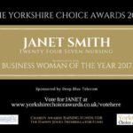 Janet Smith - nominated for a Yorkshire Choice Award