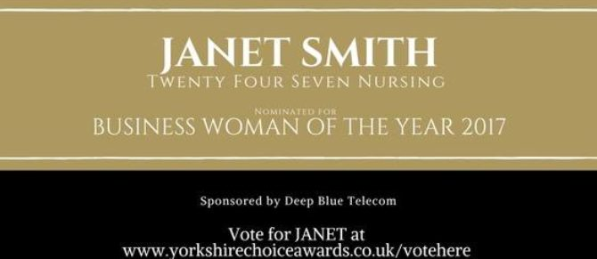 Janet Smith – nominated for a Yorkshire Choice Award