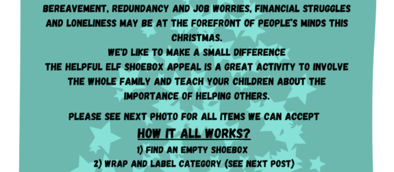 Helpful Elf Shoe Box Appeal