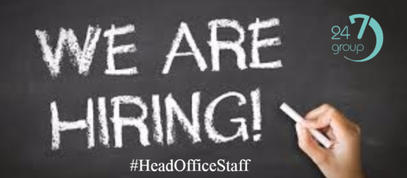 We are hiring at head office – Recruitment Consultants/Shift Co-ordinators